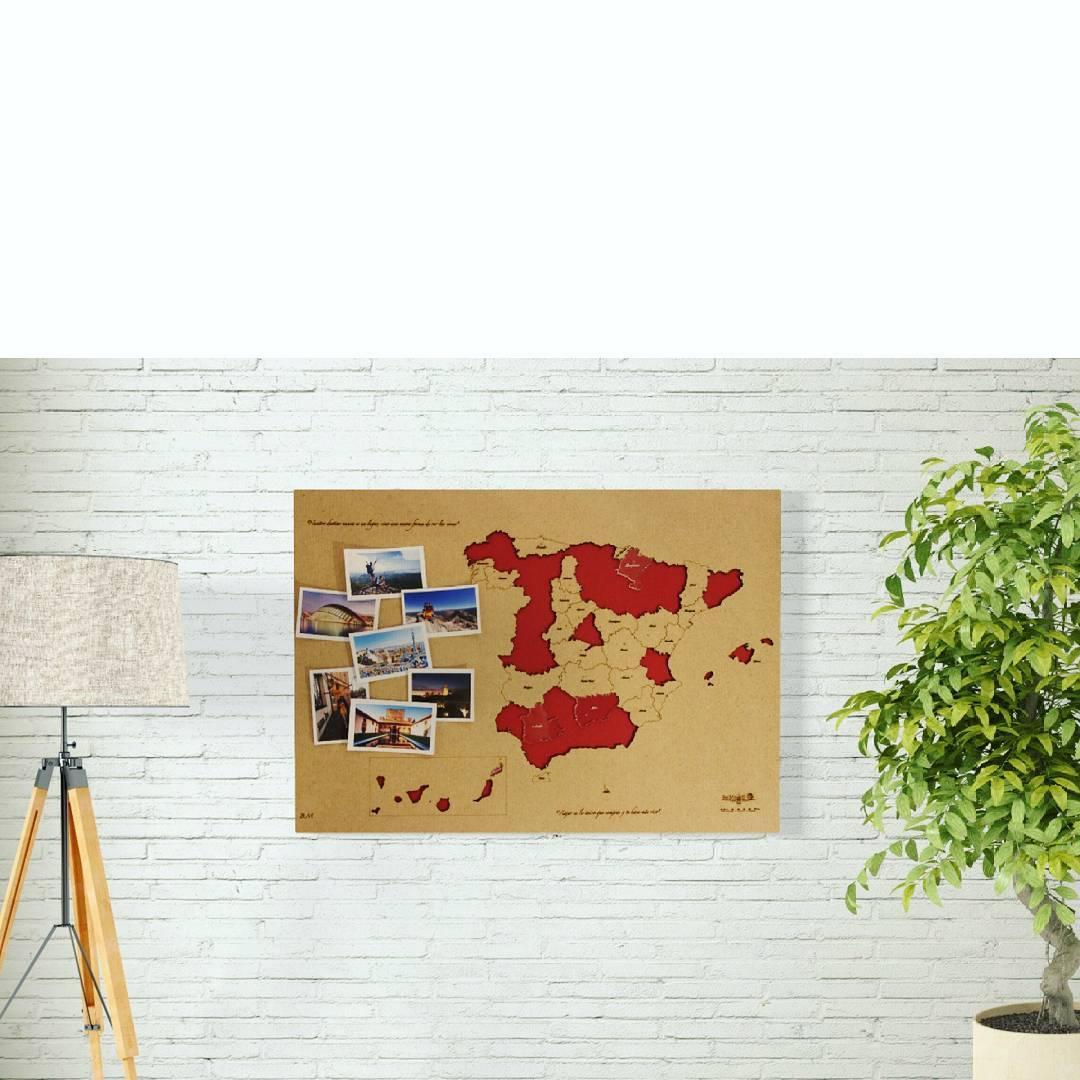 Mapa de Espaa con piezas de metacrilato Porque hay destinoshellip
