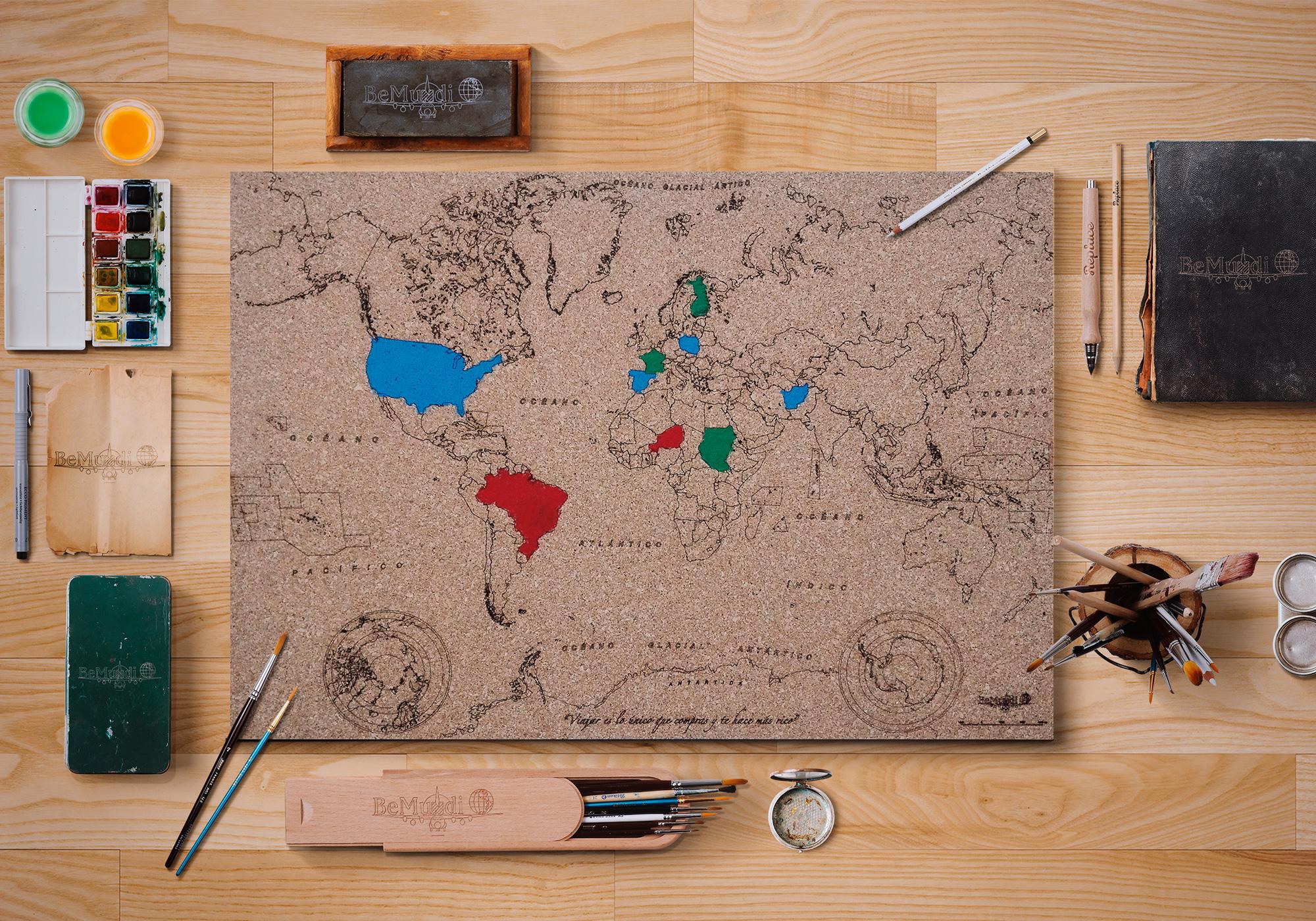 Mapa de corcho bemundi - Mapa de corcho ...